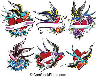 紋身, 鳥