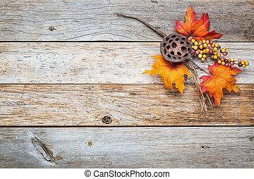納屋, 秋, 背景, 装飾, 木