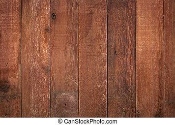 納屋, 赤い木質, 外気に当って変化した