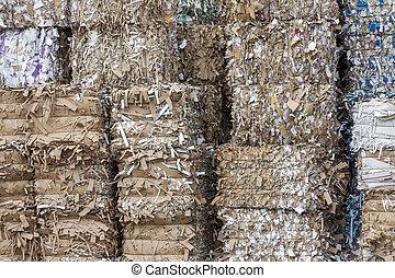 紙くず, recycling.