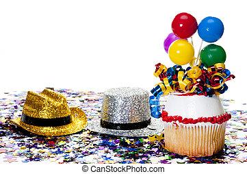 紙ふぶき, パーティー帽子, cupcake