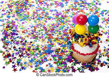 紙ふぶき, パーティー, cupcake