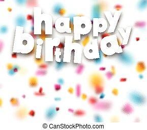 紙ふぶき, 印。, ペーパー, birthday, 幸せ