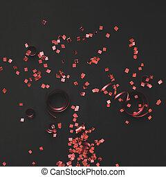 紙ふぶき, 黒い赤