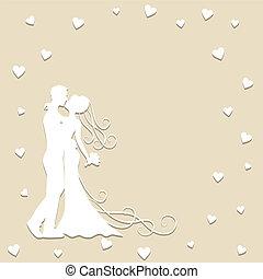 紙カード, 結婚式
