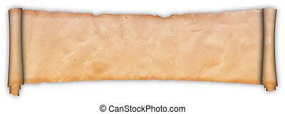紙卷, ......的, parchment.