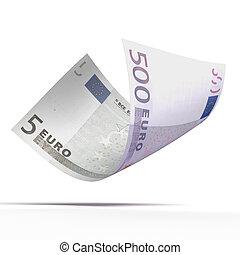 紙幣, ユーロ, 価値, 別