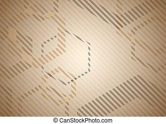 紙板, 剝去, 背景