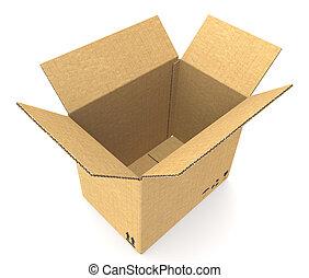 紙板, 打開箱子