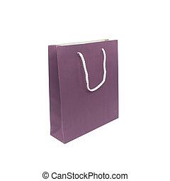 紙袋子, 被隔离, 在懷特上, 背景