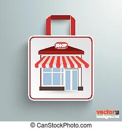 紙袋, 買い物, 店