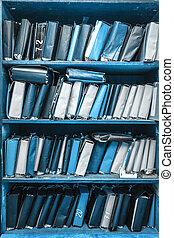 紙, 文件, 堆積, 在, 檔案