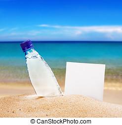 紙, 為, 正文, 以及, a, 水的瓶子