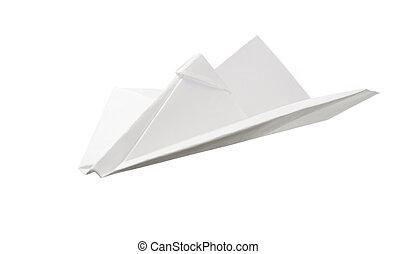 紙, 白色, 飛機, 被隔离, 背景