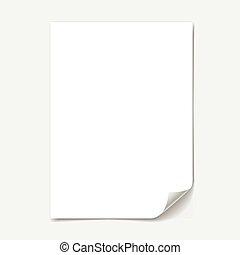 紙, 空白的表