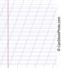 紙, 線, 空白的表, 筆記本