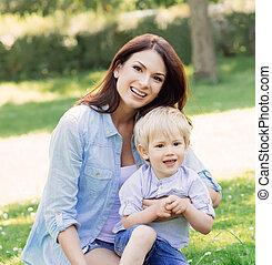 素晴らしい, 母親遊び, ∥で∥, 彼女, 息子, 公園
