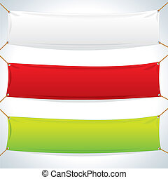 紡織品, banners., 矢量, 樣板, 插圖