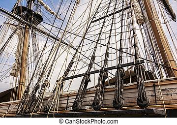 索具, 高い 船