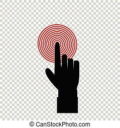 索引, ターゲット, 指すこと, 黒, 指, ビジネスマン, 赤