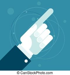 索引, 手, とんびが指さす
