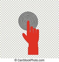 索引, 概念, ターゲット, ビジネス, とんびが指さす, 赤