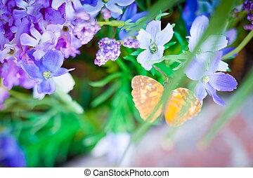 紫色の絹, 花