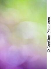 紫色の背景, 緑, ぼんやりさせられた