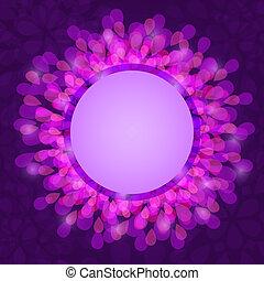 紫色の 花, グリーティングカード