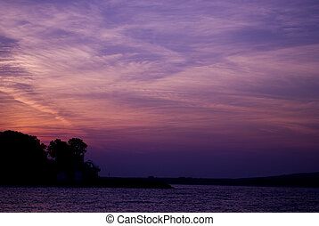 紫色的日落