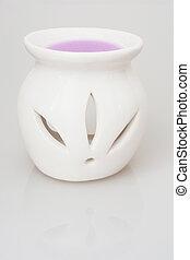 紫色, いい香り, セラミック, 燭台, ワックス