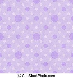 紫色, そして, 白, ポルカドット, 生地, 背景