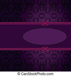 紫色, だ円形のフレーム