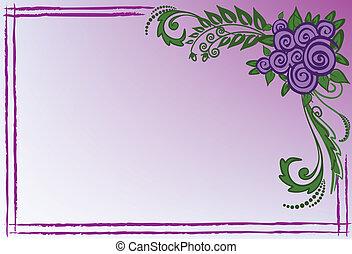 紫色, ばら, 名刺