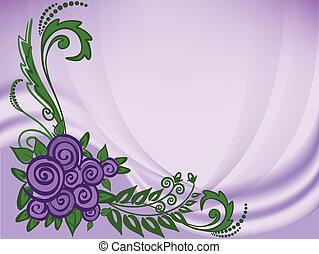 紫色, ばら, 背景