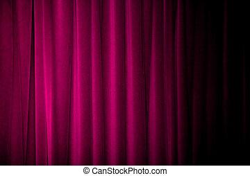 紫色, カーテン