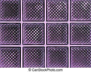 紫色, ガラスブロック
