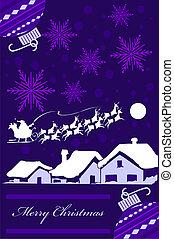 紫色, クリスマスカード