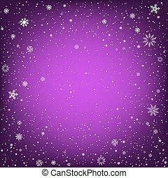 紫色, クリスマス, 背景, 雪