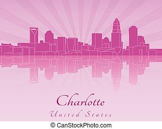 紫色, シャーロット, 放射, スカイライン, 蘭