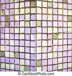 紫色, タイル