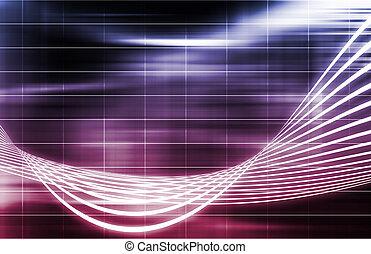 紫色, データ, ネットワーク, インターネット