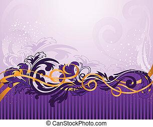 紫色, パターン, 横の縞