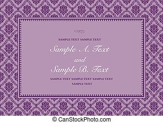 紫色, フレーム, ベクトル, 華やか