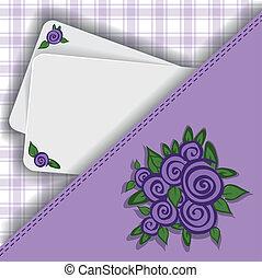 紫色, メモ, あなたの, 背景