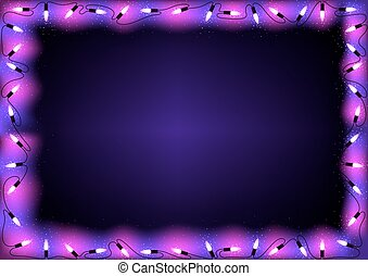 紫色, ライト, クリスマス, 背景