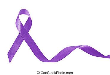 紫色, リボン, a, シンボル, の, 膵臓, がん, ∥で∥, コピースペース