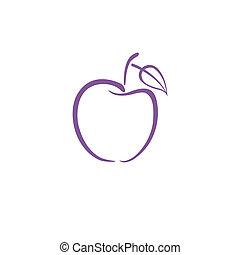 紫色, ロゴ, アップル