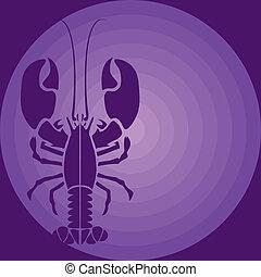 紫色, ロブスター