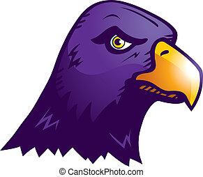 紫色, ワタリガラス